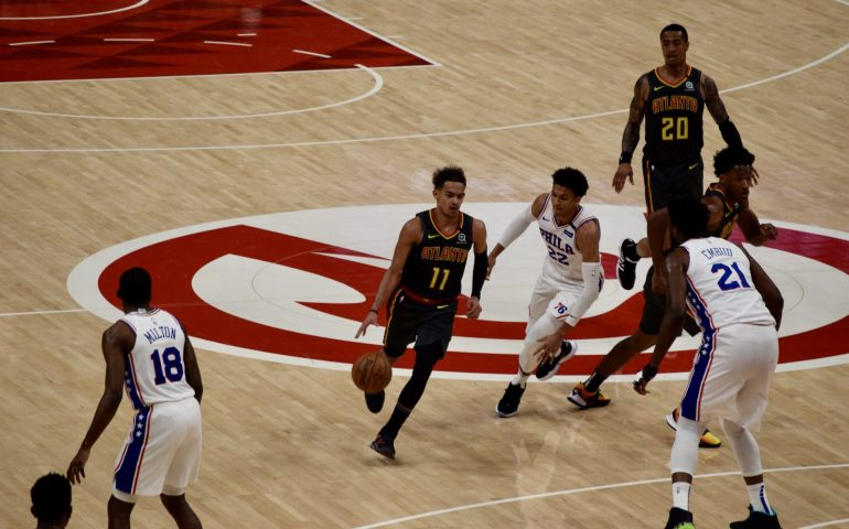 Trae Young scored 39 points and led the Hawks to a win over the 76ers Thursday night at State Farm Arena