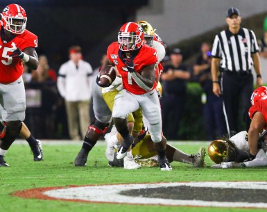 DeAndre Swift running back selected by the Detroit Lions