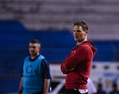 Atlanta United Head Coach Frank de Boer looks on during the second half of the first leg match between Atlanta United at FC Motagua in the Round of 16 in the 2020 Scotiabank Concacaf Champions League at Estadio Olimpico in San Pedro Sula, Honduras, on Tuesday February 18, 2020. (Photo by Jacob Gonzalez/Atlanta United)