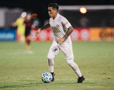 Ezequiel Barco for Atlanta United during the MLS is Back Tournament. Photo by: Matt Stith & Jared Martinez