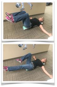 Abdominal Strengthing foam roller exercises