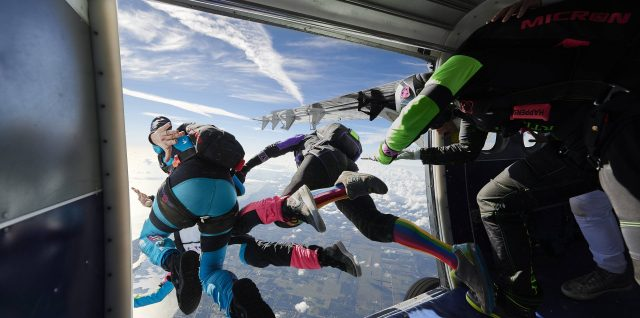 Fly Girls turn skydive record breakers at Florida summit