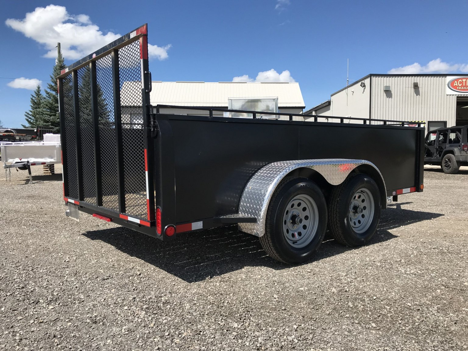 action steel tandem axle landscape 6 to 7 wide