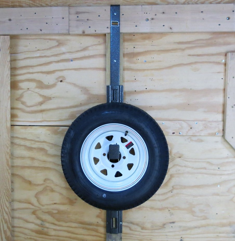 spare tire carrier for enclosed trailers