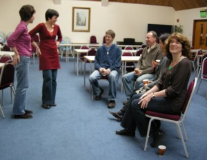 Jennifer teaching a group