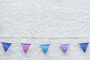 Create a string of successful experiences - a bit like bunting flags!