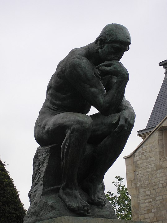 Rodin's The Thinker indulging in some mental practice