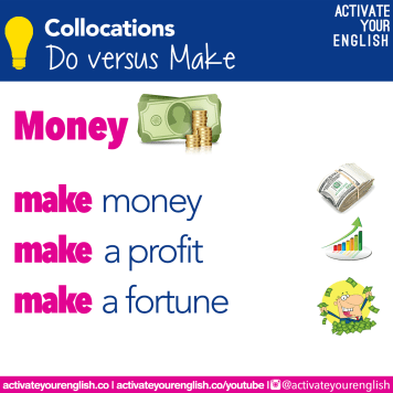Collocations with MAKE - money