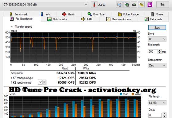 HD Tune Pro 5.70 Crack Keygen + Serial KEY Free Download