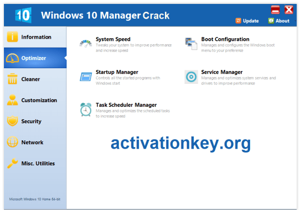 Windows 10 Manager Crack With Keygen [Latest]
