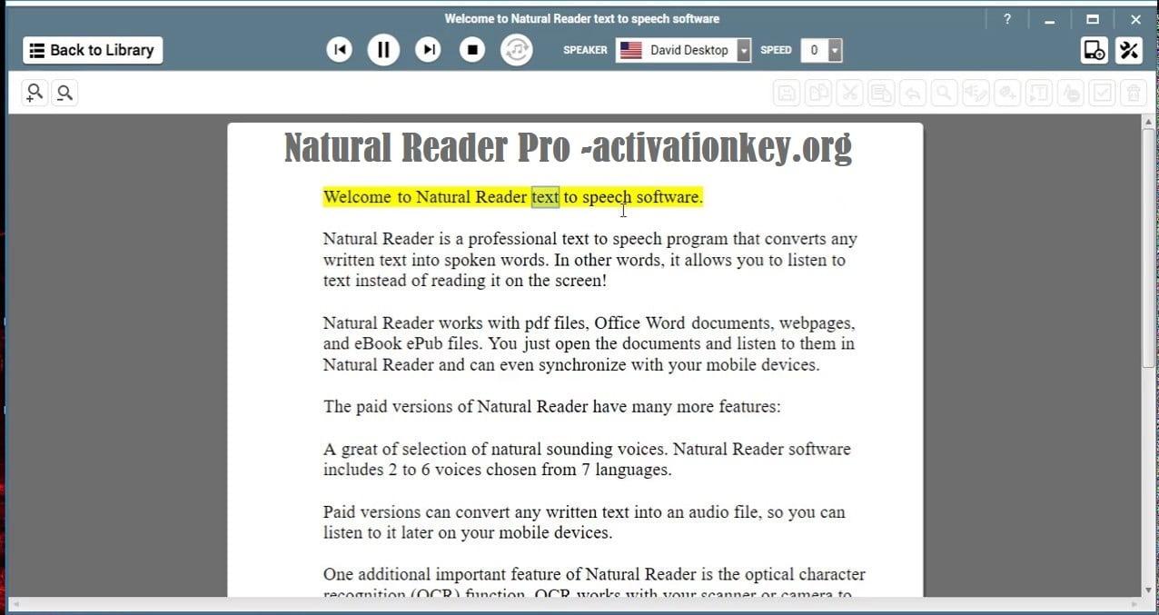Natural Reader Pro 16.1.2 Crack + Activation Key Free Download