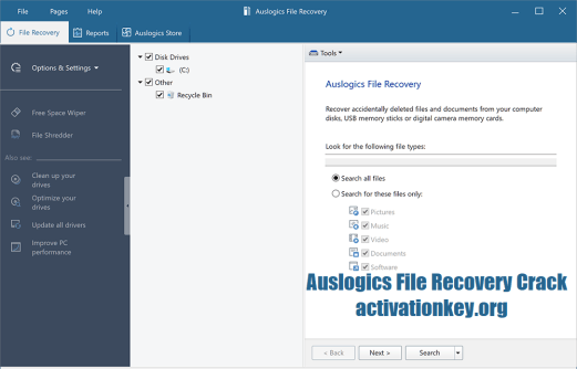 Auslogics File Recovery 9.5.0.1 Crack + Keygen (Latest)