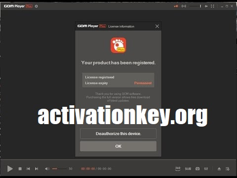 GOM Player Plus 2.3.56.5320 Crack + License KEY (Latest)