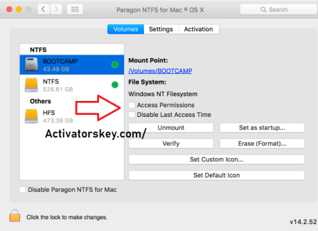 Paragon NTFS For Mac Crack