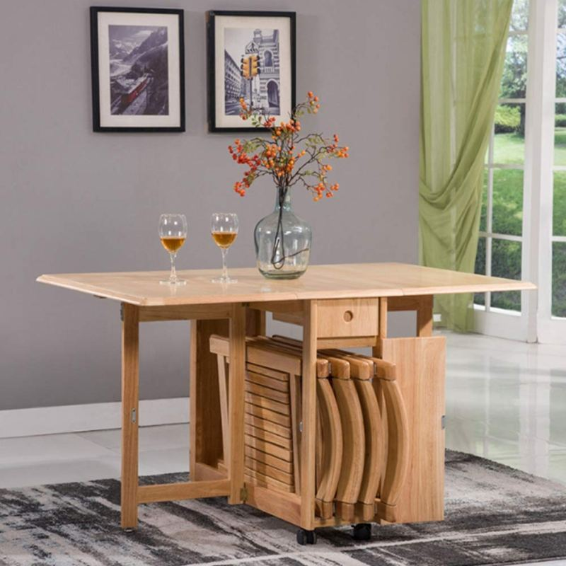 Combination Solid Wood Rectangular Table