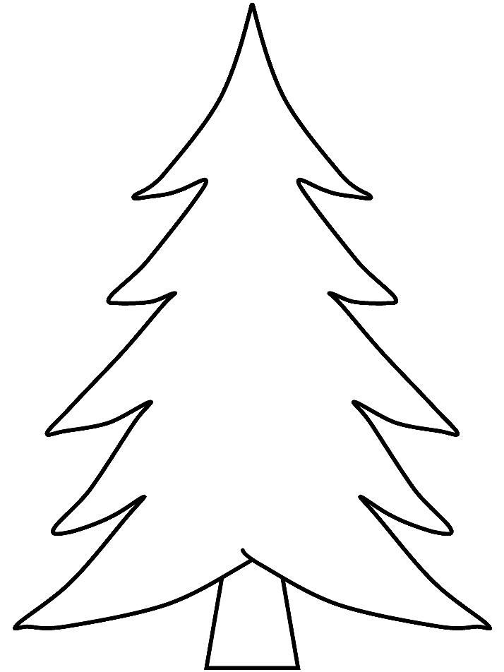 Открытка елка шаблон