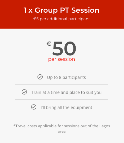 Group Training (€50)