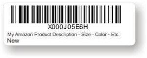 FNSKU barcode example
