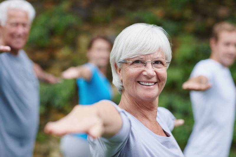 Active seniors yoga