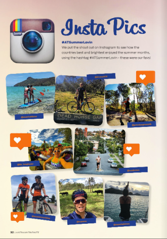 Media - Mum2Athletes' Instagram post featured in Australian Triathlete Magazine