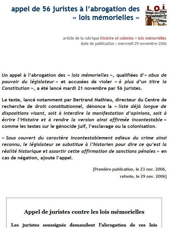Abrogation Loi Gayssot