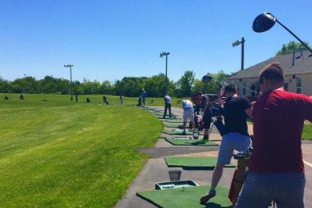 the driving range at Vietmeier Golf Center near Pittsburgh pennsylvania