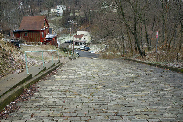 canton avenue in pittsburgh pennsylvania is one of the steepest streets in the world
