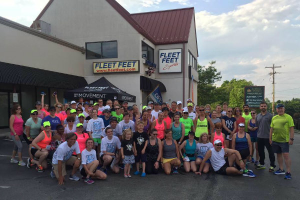 fleet feet of pittsburgh houses a full stock of running shoes and organizes weekly group runs