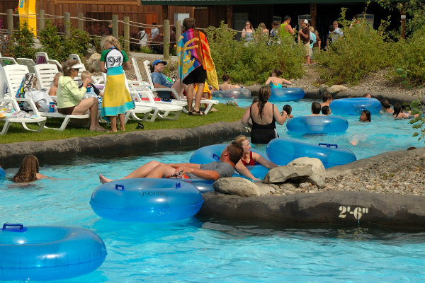 the lazy river at sandcastle waterpark