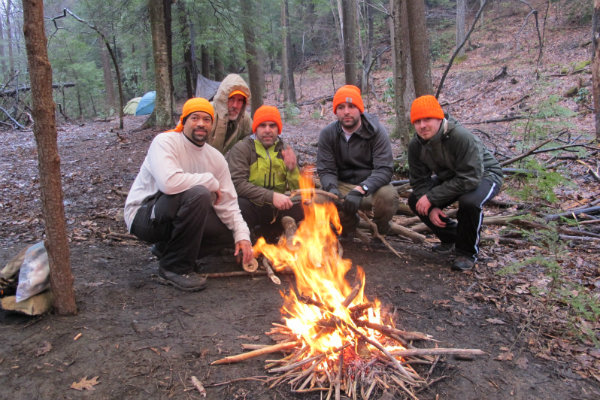 survival skills are taught to a group of people in pittsburgh pennsylvania