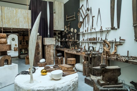 Tools in Brancusi's workshop