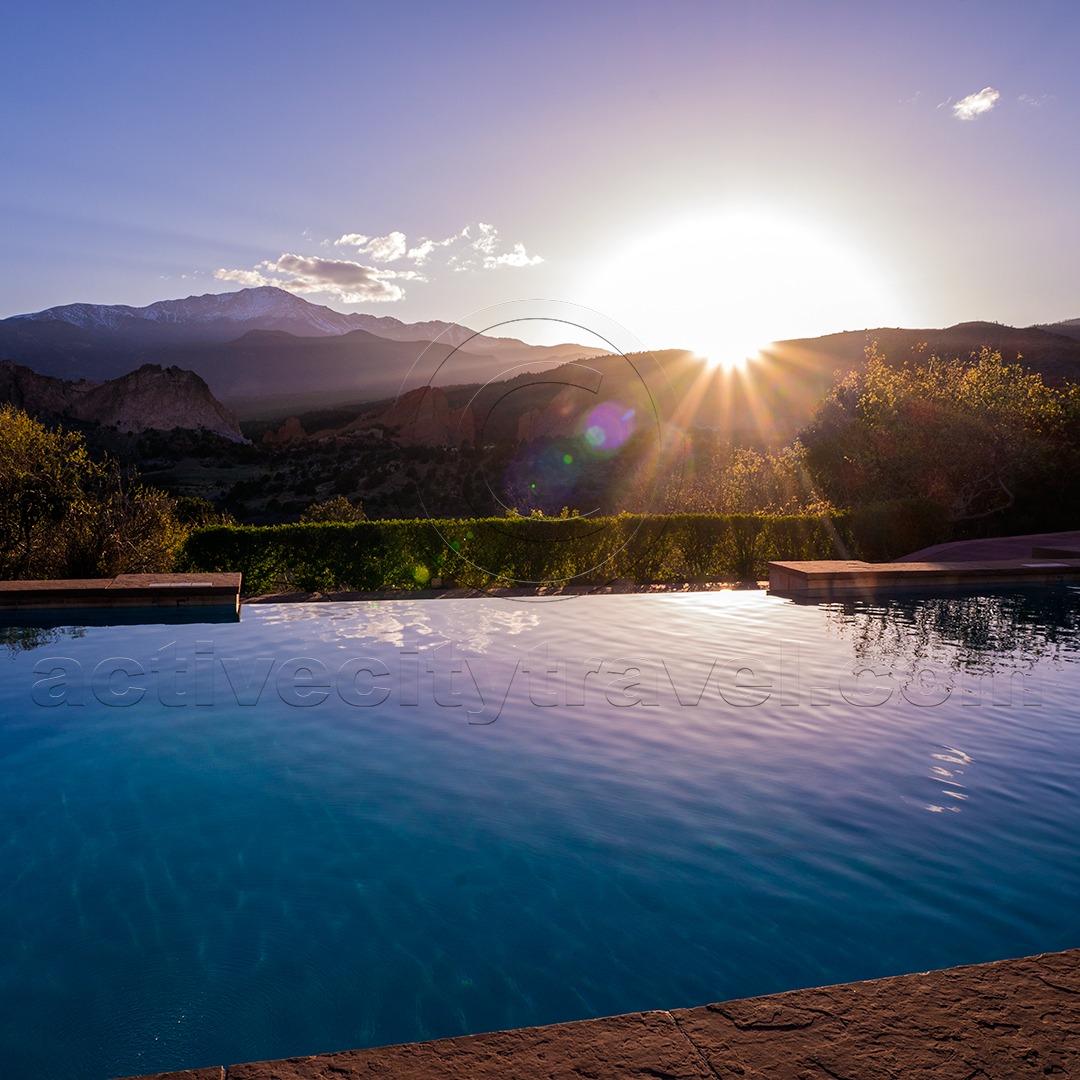 Infinity Pool at Garden of the Gods Resort