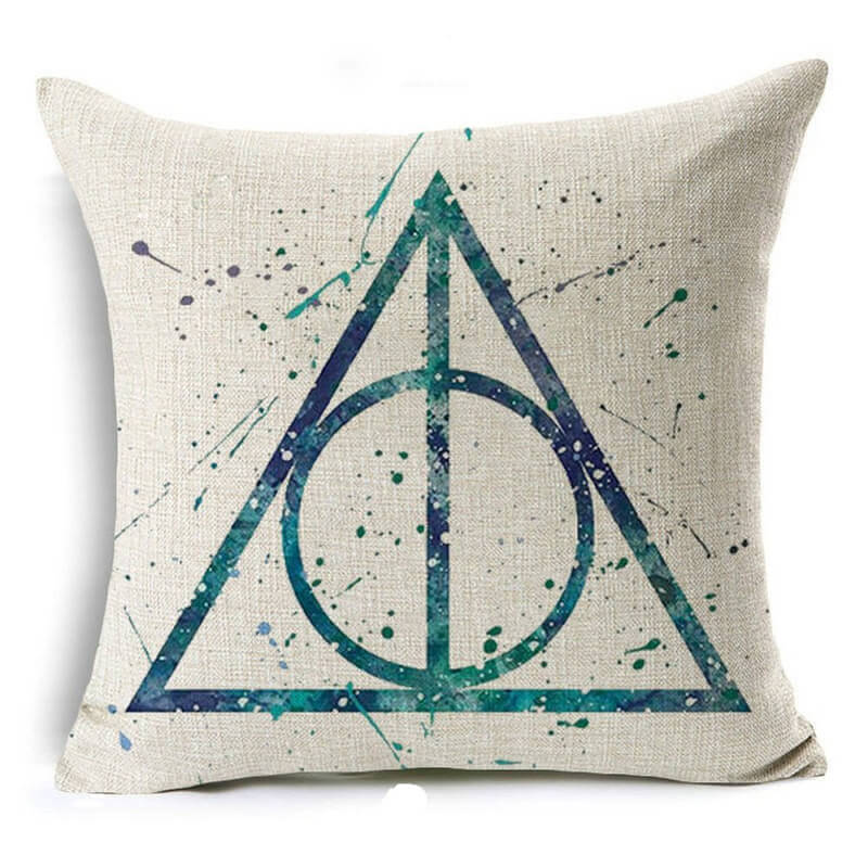 harry potter the deathly hallows pillow case
