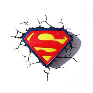 Superman Logo 3D Light
