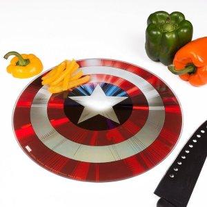 Captain America Glass Shield Chopping Board