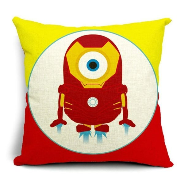 Iron Man Minions Superhero Pillow Cases