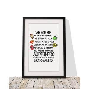 Personalised Superhero Framed Print