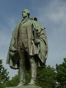Statue of Edward Cornwallis in downtown Halifax