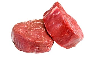 Raw filet steak