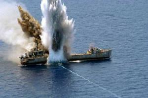 Torpedoed Ship