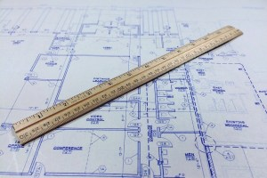 Blueprint And Ruler