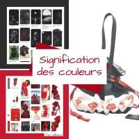 La signification des couleurs,  le rouge et le noir