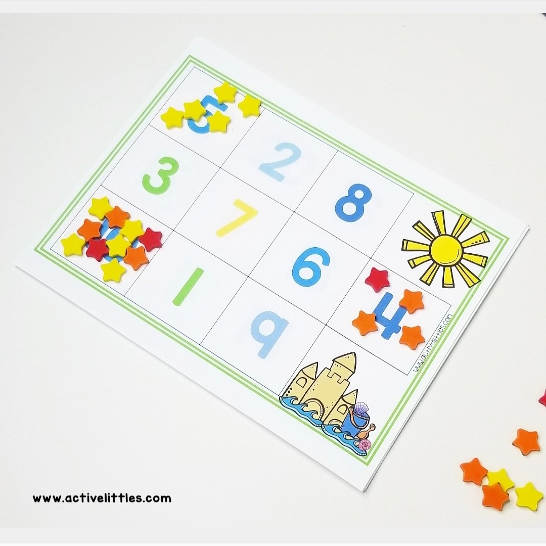 Summer Counting Mats Math Activity