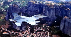 Photo:Ένα από τα δύο διθέσια F-16D (s/n) 146, φωτογραφημένο πάνω από τα Μετέωρα. (Φωτογραφία: Βασίλης Παπαχρήστου, πηγή: aviationlive.org)