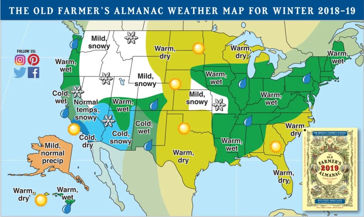 Farmer S Almanac Predicts Cold Wet Winter For Northern California