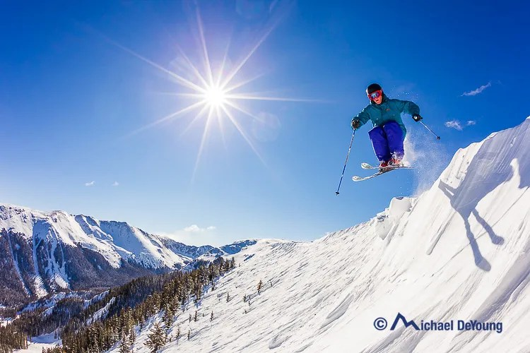 Ski Action Photography With a Fisheye Lens
