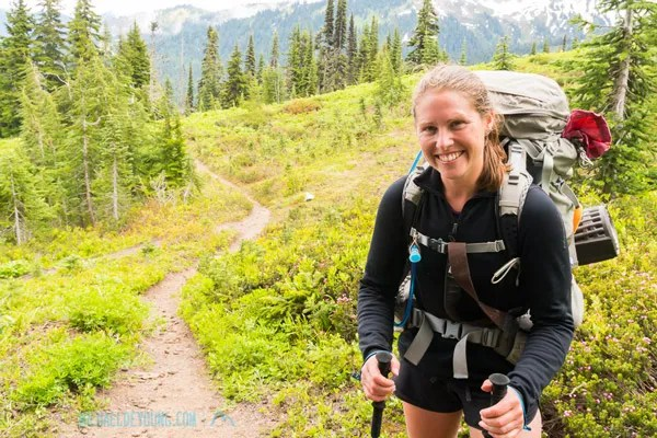 Southbounder Nuthatch is doing 30 mile days through the Glacier Peak Wilderness.