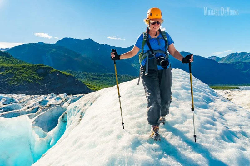Alaska Adventure - Trekking on Spencer Glacier by Michael DeYoung