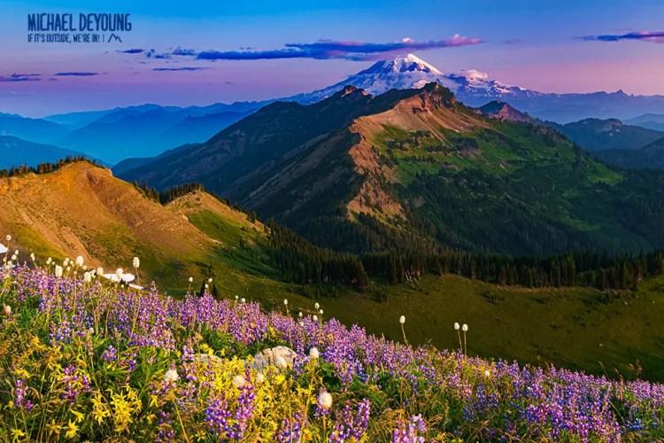 Sunrise on Mt. Rainier - Goat Rocks Wilderness, WA