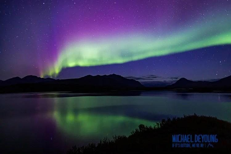 Northern Lights above Tangle Lakes - Alaska